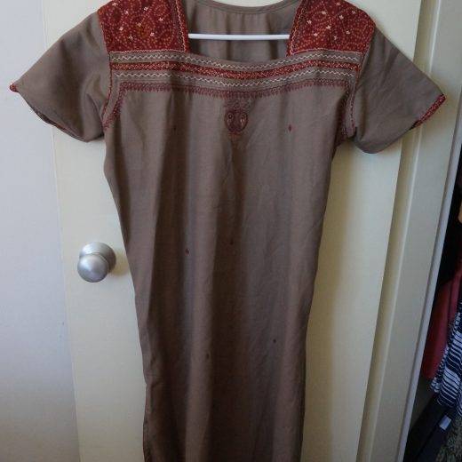 brown red salwar top