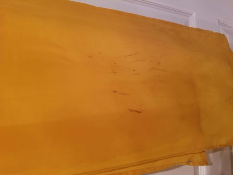 plain yellow salwar shawl
