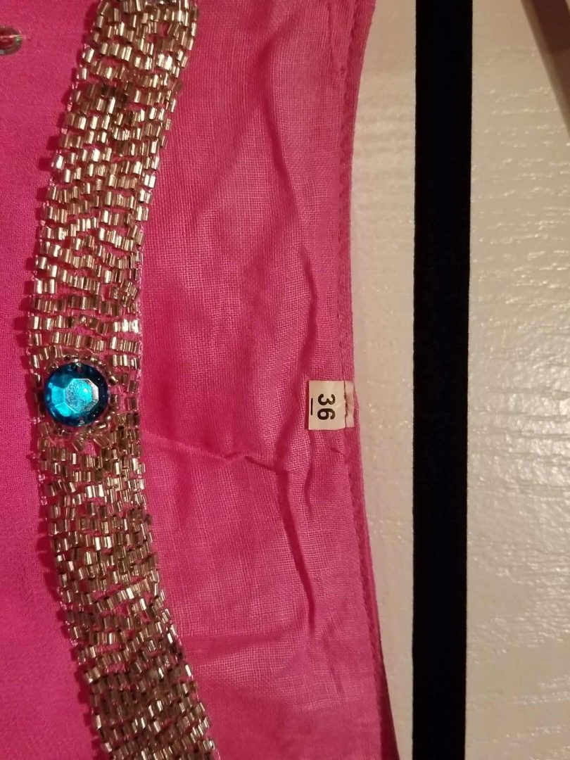 size of bright pink salwar