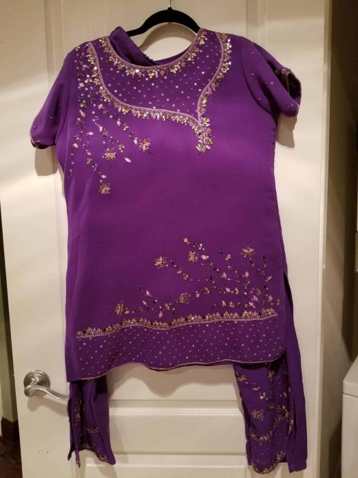 purple salwar set