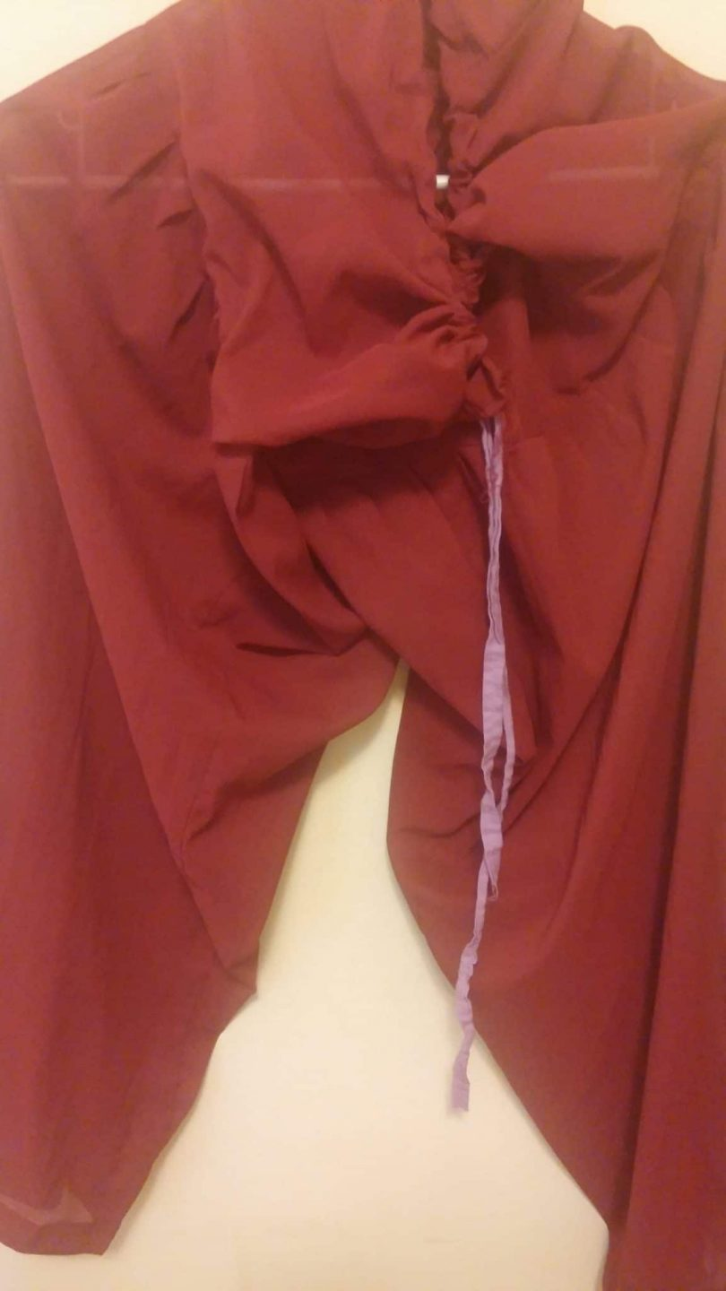 bottom for maroon and green salwar with gold embroidery