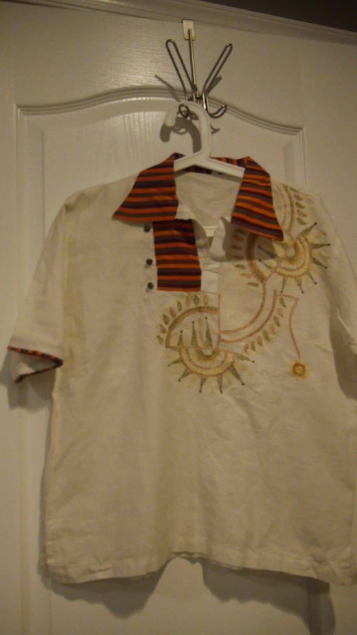 boy's white shirt with embroidery