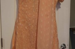 peach sequin salwar
