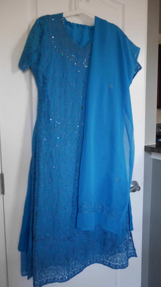 blue sequin salwar