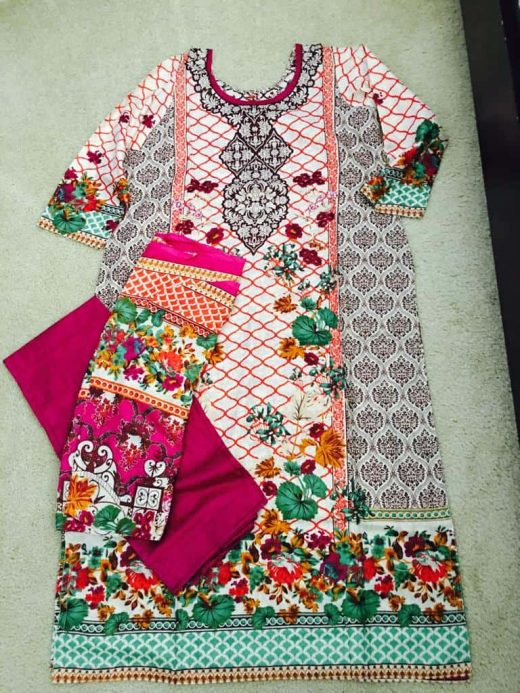 Multicolored salwar with flowers
