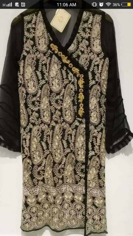 black and gold kurta