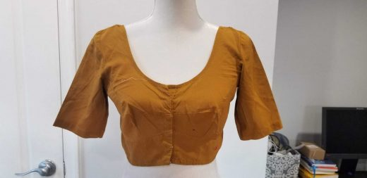 mustard yellow blouse front