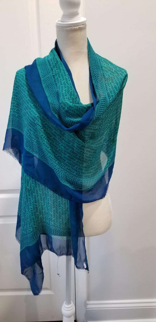 blue and green shawl 2